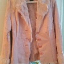 Real Rabbit Fur Pink Jacket Coat  Photo