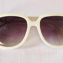 Real Vintage Rare White Liz Claiborne Oversize Sunglasses Super Cool Oo Photo