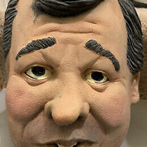 Realistic Chris Christie Costume Cosplay Party Celebrity Latex Mask Halloween Photo