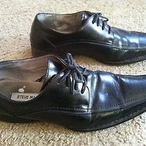 Really Nice Men's Size 9 Steve Madden Black Dress Shoes Leather Lining Nice Photo