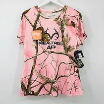 Realtree Apc Crewneck Camo Print Tee Womens Sz Xl Short Sleeve Wicking Pink Nwt Photo