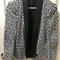 Rebecca Minkoff Becky Blazer Jacket Black White Size Small Nwot Photo