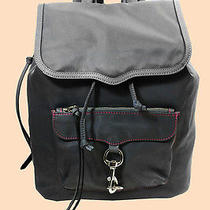 Rebecca Minkoff Bike Share Grey Nylon Backpack Msrp 195.00 Photo