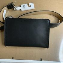 Rebecca Minkoff Black Leather Belt Bag Zipper Size Xs Nwt Msrp 78 Photo