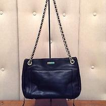 Rebecca Minkoff Black Leather Shoulder Bag With Gold Chair Strap Photo