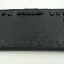 Rebecca Minkoff Black Saffiano Leather Sophie Wallet Black Studs. Photo