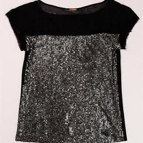 Rebecca Minkoff Black Silk Satin With Golish Sequinned Front So Cute Photo