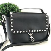 Rebecca Minkoff Blythe Bag Black Leather Studded Crossbody Purse Photo