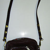 Rebecca Minkoff Burgundy Leather Crossbody Bag With Bird Lining Photo