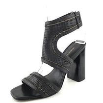 Rebecca Minkoff Christy Black Leather Ankle Cuff Sandals Women's Size 8.5 M Photo