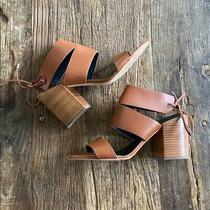 Rebecca Minkoff Christy Brown Leather Strappy Stacked Heel Size 10 Photo