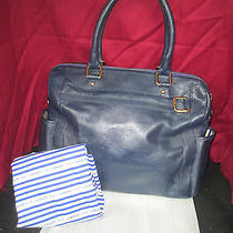 Rebecca  Minkoff  Diaper Bag  Navy Blue Leather Photo