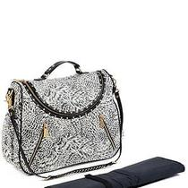 Rebecca Minkoff Jodi Studded Zebra Print Diaper Baby Bag Photo
