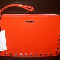 Rebecca Minkoff Kerry Orange Pouch With Studs Wristlet Nwt  Photo