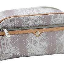 Rebecca Minkoff Large Lavender Snake Leather Trim Cosmetic Travel Case 95 New Photo