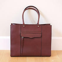 Rebecca Minkoff Large Mab Leather Tote in Mahogany Photo