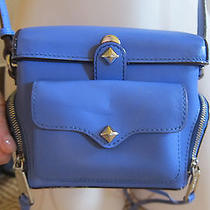 Rebecca Minkoff  Leather Camera Case Blue Photo