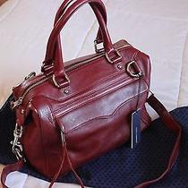 Rebecca Minkoff Leather Mab Mini Bag Wine Photo