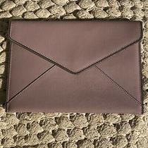 Rebecca Minkoff Leo Textured Leather Blush Pink Zipper Edged Envelope Clutch 95 Photo