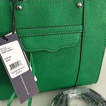 Rebecca Minkoff Mab Tote Mini Quartz Leather Convertible Crossbody (Green) Photo