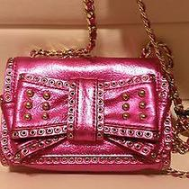 Rebecca Minkoff Metallic Fuschia Purse Msrp 350 Nwt Club Stripper Exotic Dancer Photo