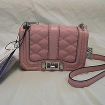 Rebecca Minkoff 'Mini Love' Bag - Primrose Pink W/ Silver Crossbody Clutch Nwt Photo