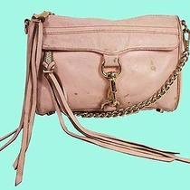 Rebecca Minkoff Mini Mac Blush Leather Cross-Body Bag  Msrp 195.00 Photo