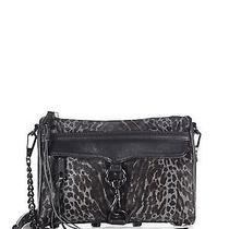 Rebecca Minkoff Mini Mac Convertible Grey Leopard-Print Crossbody Leather Purse Photo