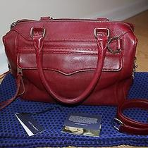 Rebecca Minkoff Morning After Mab Mini Mam Wine Leather Bag Photo