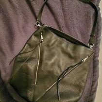 Rebecca Minkoff Moto Pebbled Leather Hobo Bag Black Tassels Zipper ret.328 Photo