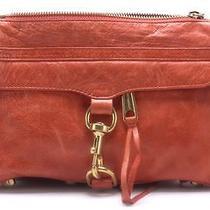 Rebecca Minkoff Orange Mac Small Leather Shoulder Chain Bag Photo