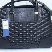 Rebecca Minkoff Quilted Amorous Black Tote Handbag Shoulder Leather Bag Nwt Photo