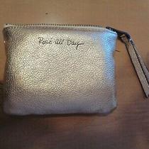 Rebecca Minkoff Rose All Day Leather Zip Pouch Clutch Rose Gold With Tassel Euc Photo