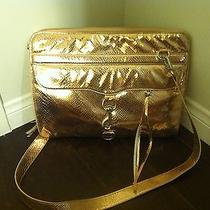 Rebecca Minkoff Rose Gold Laptop Bag 15