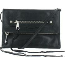 Rebecca Minkoff Small Regan Crossbody Leather Clutch in Black (Hf16epbc45) Photo