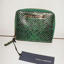 Rebecca Minkoff Small Zip Around Wallet Python Print Leather 195 Nwt on Sale  Photo