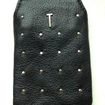 Rebecca Minkoff Stevie Black Leather Iphone 4 Case With T Initial Photo