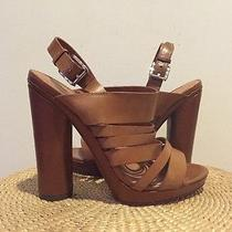 Rebecca Minkoff Strappy Heels Cognac Brand New Photo