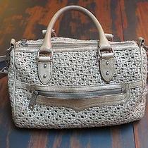 Rebecca Minkoff Taupe Leather Woven Satchel Bag W/wallet Rare Unique Photo