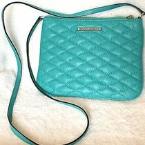 Rebecca Minkoff Teal Kerry Crossbody Purse Quilted 7x9 Bag 45 Strapsilv Photo