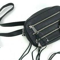 Rebecca Minkoff Three Zip Leather Belt Bag Fanny Pack Waist Purse Black Leather  Photo