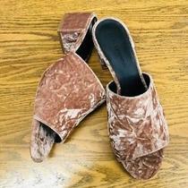 Rebecca Minkoff Velvet Blush/pale Pink Heeled Mule Shoes Nwob Size 9.5 Photo
