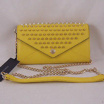 Rebecca Minkoff Wallet on a Chain With Studs Marigold With Gold Hardware New Photo