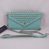 Rebecca Minkoff Wallet on a Chain With Studs Minty With Silver Hardware New Photo