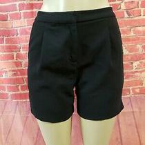 Rebecca Minkoff Women's Black Polyester Dress Shorts Size 6 Photo
