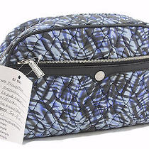 Rebecca Minkoff Women's Large Geometric Print Quilted Cosmetic Case 95 New Photo