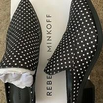 Rebecca Minkoff Womens Mule Black and White Leather ( With Tiny Stars ) Photo