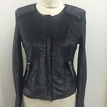 Rebecca Taylor Black Sequinned Jacket Photo