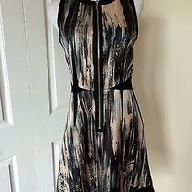 Rebecca Taylor Black Wear to Work Dress 4 M Zipper Photo