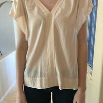 Rebecca Taylor Blouse Top Beige 8 Silk Photo